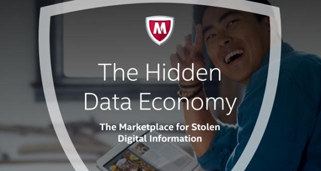 Un interessante report diffuso da Intel Security ha comunicato il valore per fasce di prezzo del mercato nero dei dati sensibili sul deep web.
