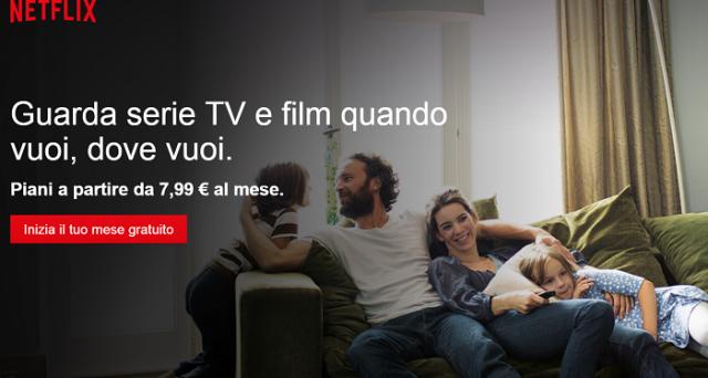 Netflix sbarca ufficialmente in Italia con un ricco catalogo di qualità, 3 opzioni di abbonamento disponibili e 1 mese di prova gratuito.