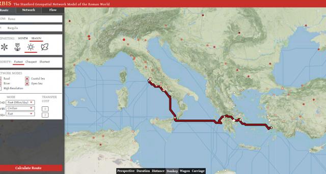 Si chiama Orbis ed è il Google Maps dell'antica Roma: a svilupparlo un team di storici e informatici dell'Università di Stanford.