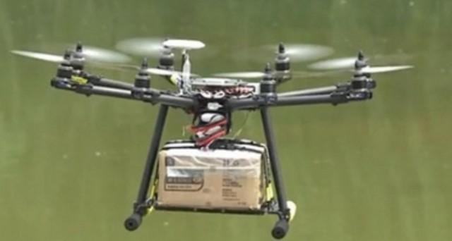 drone google consegna pacchi