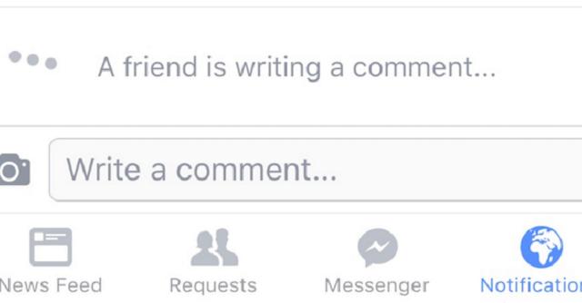 Facebook sta per introdurre una nuova funzione sul social network: la notifica dei commenti in tempo reale, proprio come avviene già su WhatsApp.