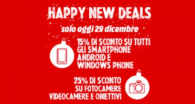 Mediaworld propone gli sconti di fine anno con la promozione Happy New Deals: gli ultimi giorni del 2015 saranno pieni di sconti da Mediaworld.
