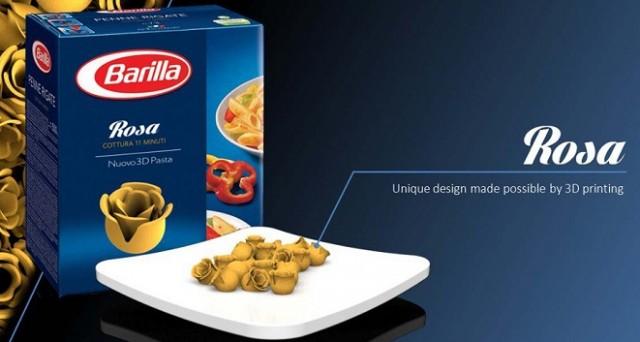barilla pasta stampante 3d
