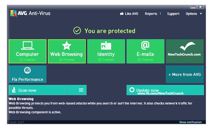 Antivirus gratis per Windows AVG