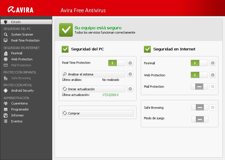 Antivirus gratis per Windows Avira