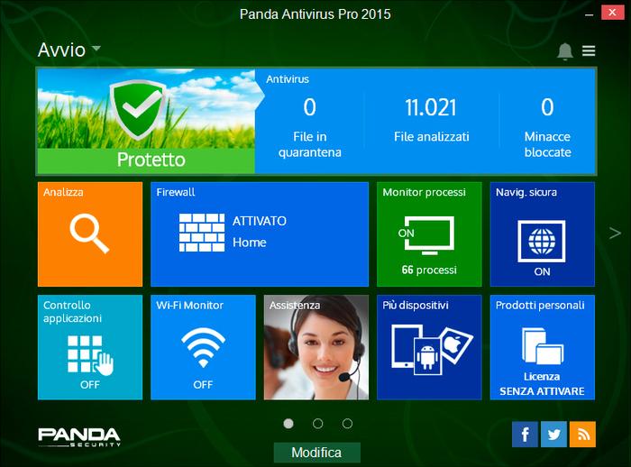 Antivirus gratis per Windows Panda