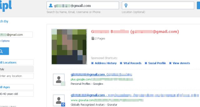 Come cercare e trovare una persona partendo dall'indirizzo email