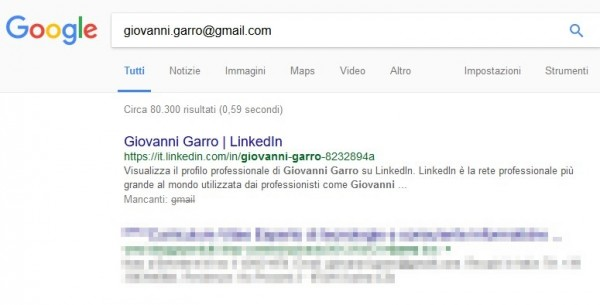 Come cercare e trovare una persona partendo dall'indirizzo email tramite Google