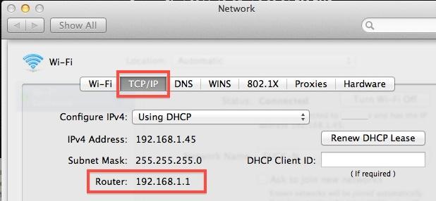 indirizzo IP Mac