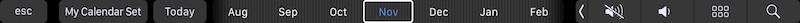 touch bar in appstriscia di controllo touch barlicazioni