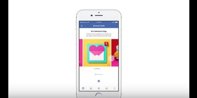 Auguri di San Valentino? Frasi e cartoline, nonché filtri per i selfie, sono le novità in roll-out su Facebook: l'azienda punta a fare il pienone.