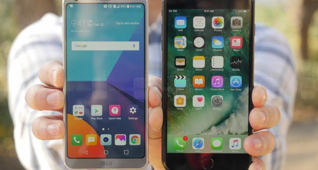 Quale scegliere, iPhone 7 Plus o LG G6? Ecco, per voi, un confronto video con un 'terzo (potentissimo) incomodo' e le offerte online maggio 2017.