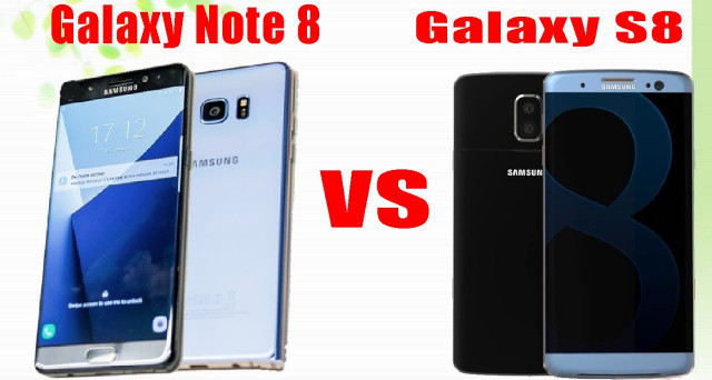 Le 5 più grandi differenze tra Samsung Galaxy Note 8 e Galaxy S8
