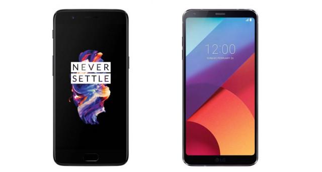 Bisogna valutare attentamente il lavoro svolto su OnePlus 5: confronto con LG G6 su design, hardware, camera e tanto altro. Chi vince la sfida?
