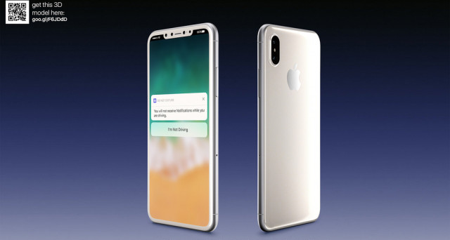 Ridda di rumors e leaks su iPhone 8: innanzitutto, la questione del display extralarge con tanto di video e poi immagini in Total White e Silver (foto).