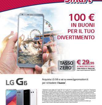 LG rilancia il mercato: LG G6 in offerta con Estate Smart e voucher in regalo, mentre arriva LG G6 Mini, il migliore smartphone piccolo in commercio.