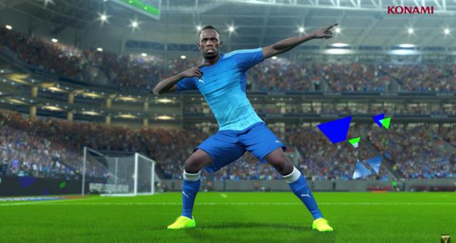 PES 2018, gameplay e novità ecco i 20 giocatori più veloci, c'è anche Usain Bolt