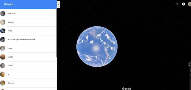 Con Google Maps ora è possibile esplorare anche altri pianeti del sistema Solare. Si chiama Planets la nuova estensione della famosa app.
