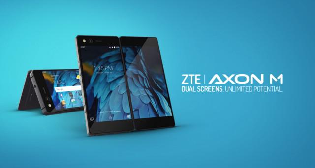 Presentato ZTE Axon M, lo smartphone che si piega e si apre presentando due schermi. Scheda tecnica, uscita e prezzo del device più singolare del momento.