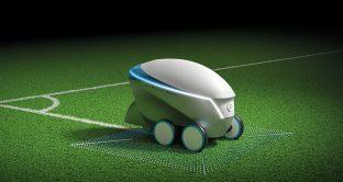 Guida autonoma e calcio, Nissan lancia il robot che disegna campi di gioco
