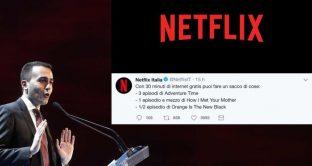Di Maio vuole Netflix, uno streaming tutto italiano sarebbe una soluzione importante