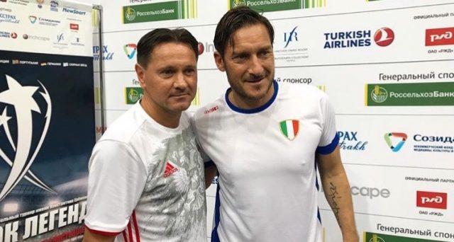 Mondiali in Russia 2018, scende in campo l'Italia. Totti guida gli azzurri a caccia della Legends Cup. Oggi le partite decisive del girone. Info Streaming.