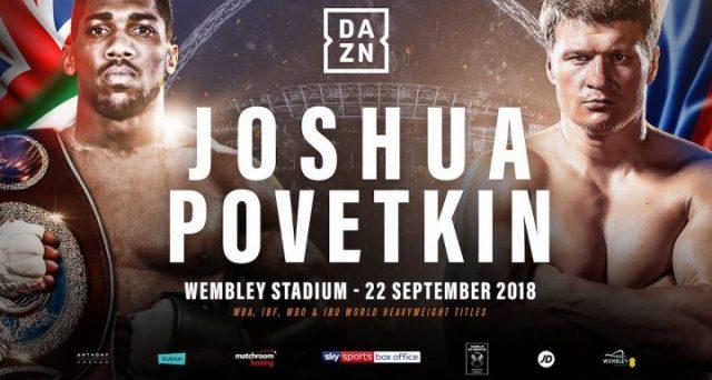 La grande boxe torna in Italia grazie al match per il titolo del massimi Joasha vs Povetkin. Ecco dove vederlo in streaming.