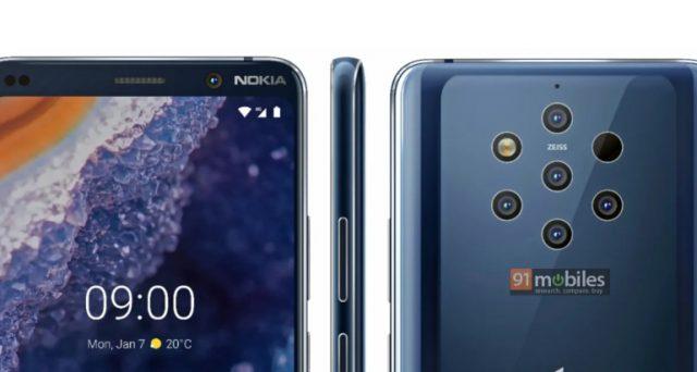 Il Nokia 9 PureView sta per arrivare, ecco il comparto fotografico da record, 5 sensori nella parte posteriore.