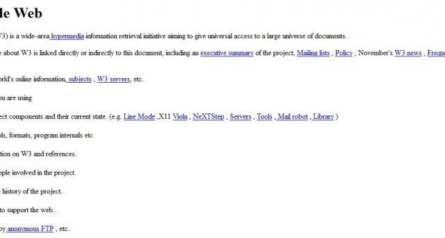 La storica prima pagina web, ecco come accedere alla prima pagina creata nel mondo del web.