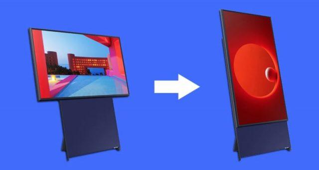 Samsung lancia il televisore con schermo in verticale, un'invenzione che strizza l'occhio ai millennials.