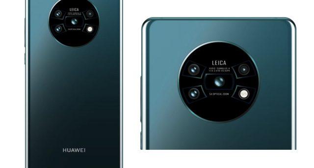 Design futuristico per il Huawei Mate 30 Pro con alloggio per fotocamere posteriori da fantascienza.