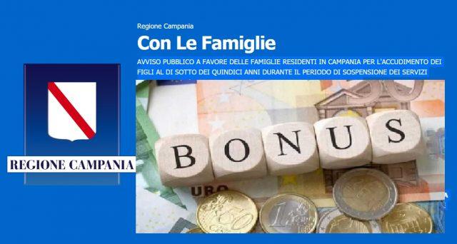 Al via i pagamenti per il bonus Con le famiglie, della Regione Campania.