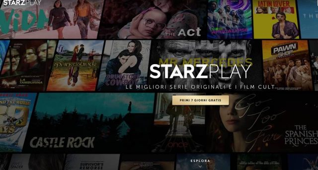 Le serie tv presenti nel catalogo italiano di StarzPlay.