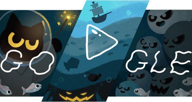 Nuovo doodle dedicato ad Halloween su Google, c'è il giochino del gattino ammazza fantasmi.