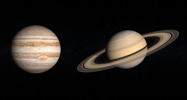 La congiunzione Giove Saturno celebrata nel doodle di Google.