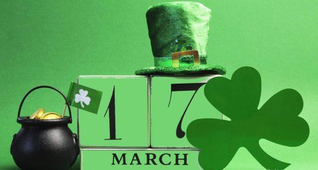 Un doodle ricorda la festa di San Patrizio, evento tipico irlandese.