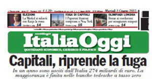 italia oggi prima pagina