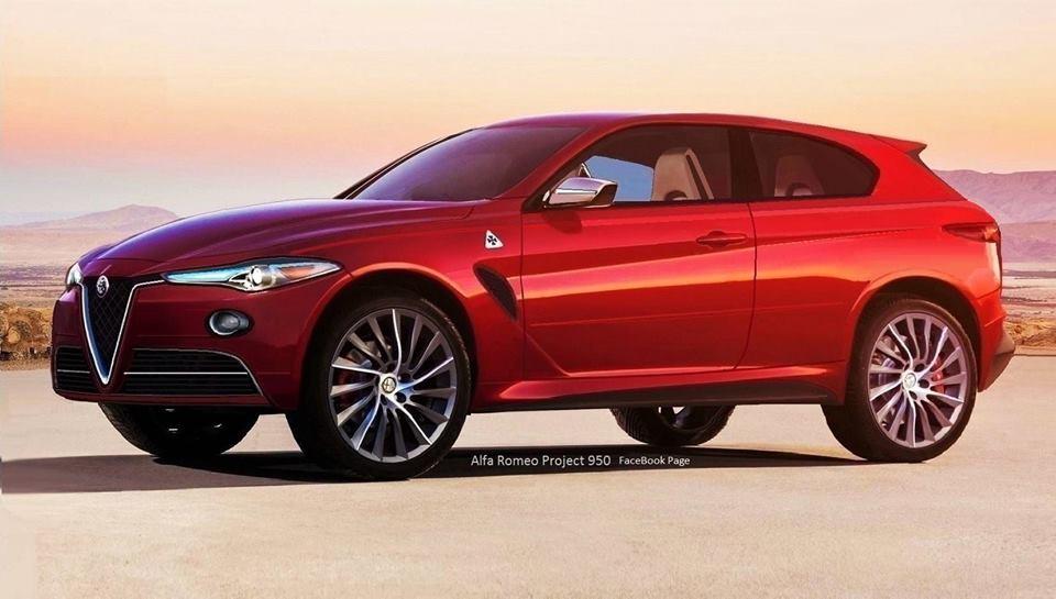 Alfa Romeo grande suv il render pubblicato dalla pagina Facebook 'Alfa Romeo Project 950'