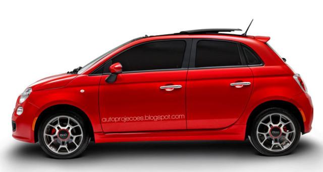 Fiat 500 a 5 porte.