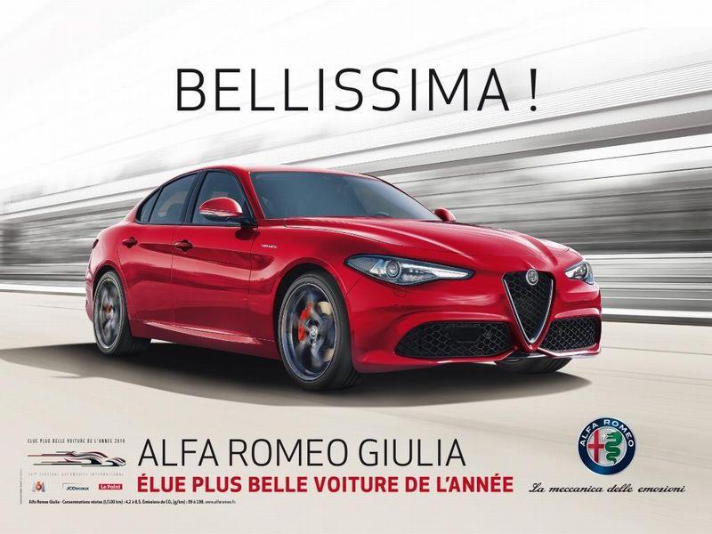 Alfa Romeo Giulia eletta in Francia 'Auto più bella del 2016'