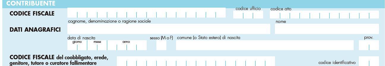 F24 imu modello e compilazione guidata for Sezione el f24