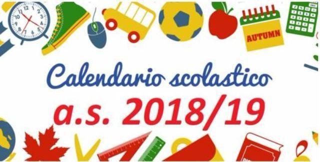 Calendario Scolastico Regione Lombardia.Calendario Scolastico 2018 2019 Inizio Lezioni Festivi E