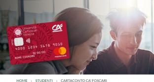 Chi attiverà CartaConto Ca' Foscari per gli studenti universitari entro il 28 febbraio 2018 grazie a Crédit Agricole FriulAdria  potrà vincere buoni del valore di 50 euro ognuno per un totale di 5000 euro. Info e caratteristiche.